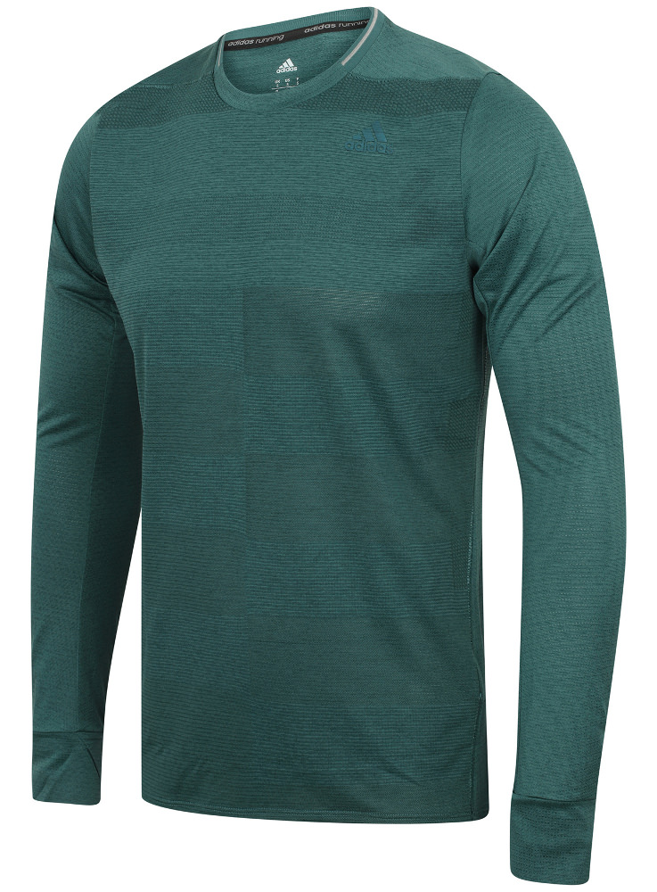 ea9c5554 Details about adidas Mens Supernova climalite Long Sleeve Running T-Shirt  Training Tee Shirt