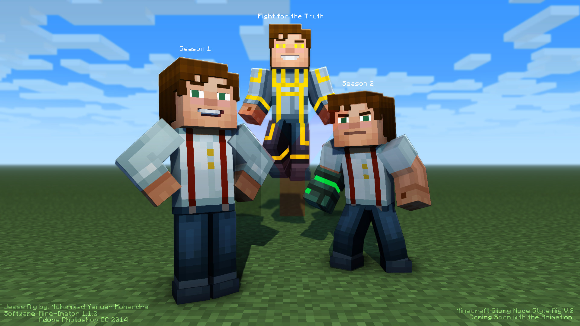 Ym Sgt S Minecraft Story Mode Style Rig Pack New Olivia Rig