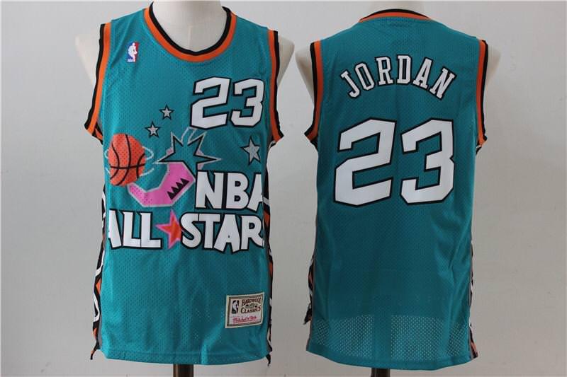 Michael Jordan #23 1996 NBA All-Star Basketball Jersey Shirt Teal//Aqua S-XXL