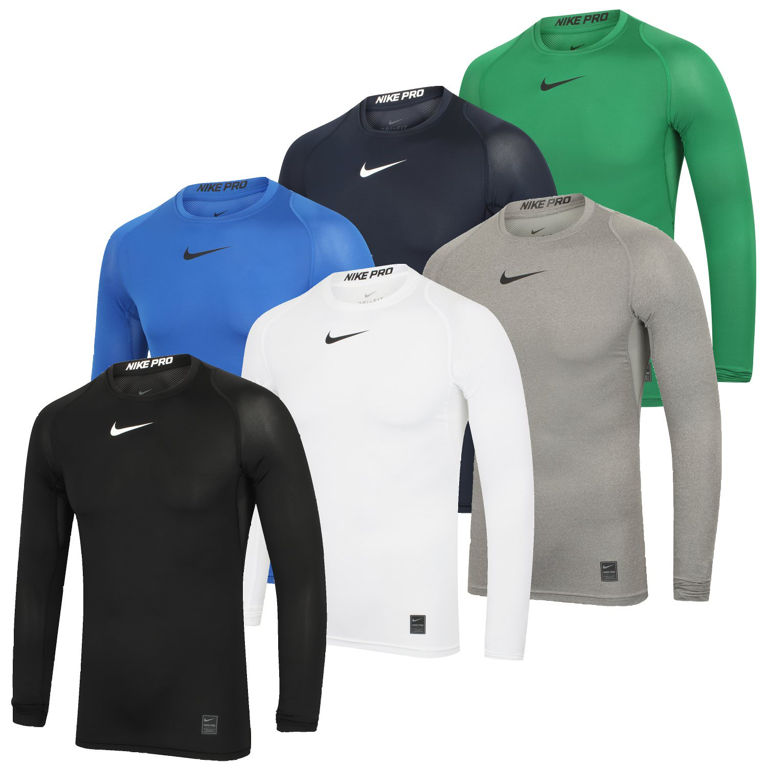 911b6214 Details about Nike Mens Pro Dri-Fit Compression Gym Training Top Long  Sleeve Baselayer T-Shirt